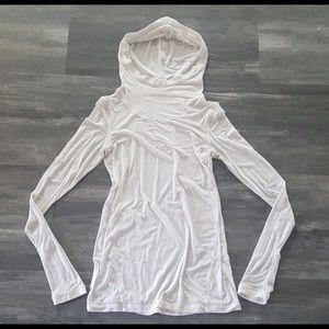 White Classic Lululemon Thin Hooded Long Sleeve
